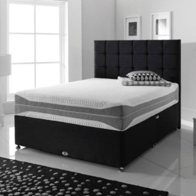 Black Bed with Luxury Mattress