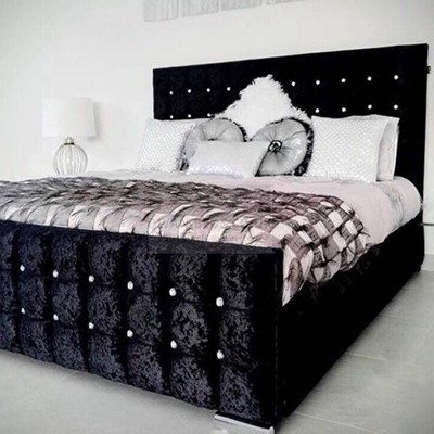 Luxury Black Bed